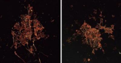 Космонавт Новицкий показал, как выглядят Брест и Гомель с борта МКС