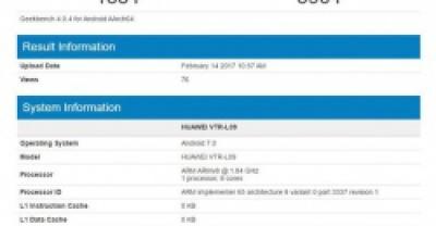 Huawei P10 прошел тестирование в Geekbench